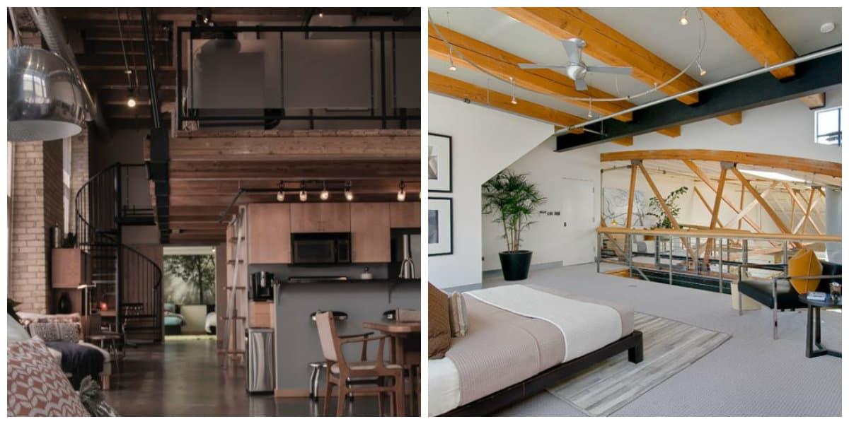 Apartamento loft- se combinan el salon , la cocina y el dormitorio