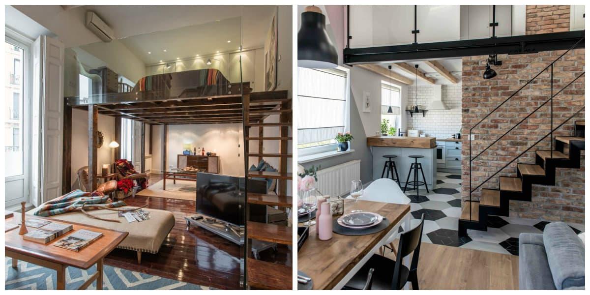 Apartamento loft- ideas de la organizacion de los muebles de moda