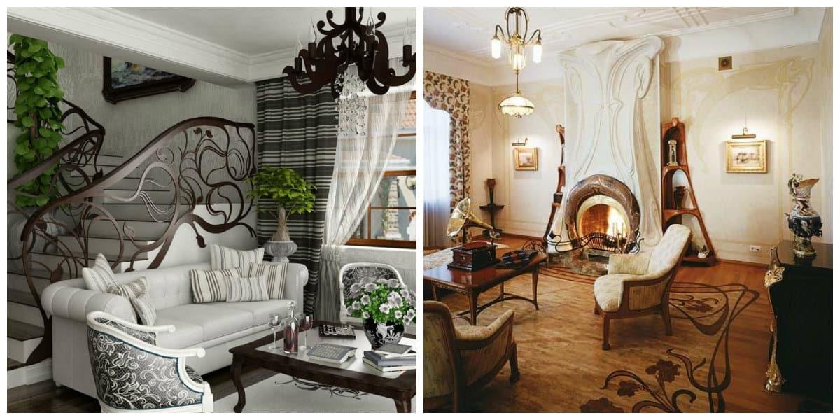 Art nouveau diseño- todas las tendencias de moda moderna