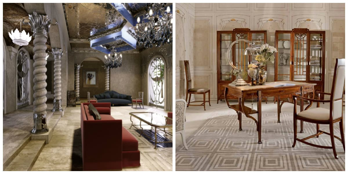Art nouveau diseño- tiene diferentes caracteristicas en varios paises