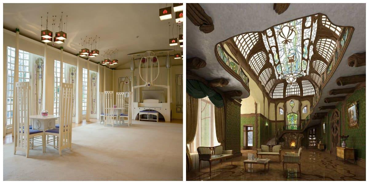 Art nouveau diseño- se presta mucha atencion al techo