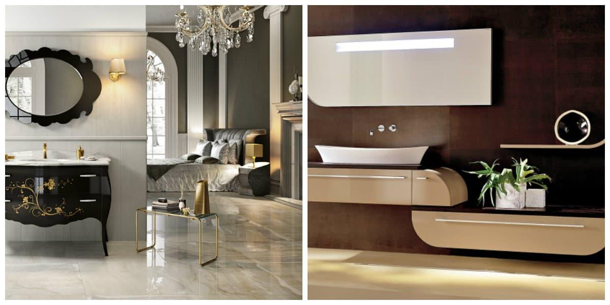 Baño en italiano- estilo italiano requiere eleganci y simplicidad