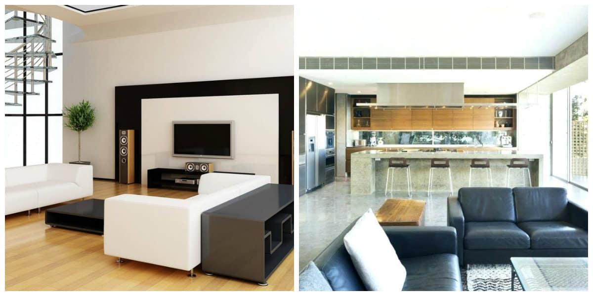 Casas estilo moderno- a veces hay tambien muebles de colores claros