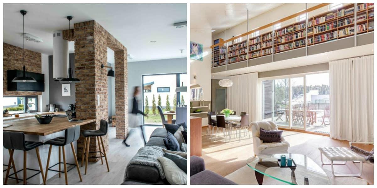 Casas nordicas- un lugar especial para la estanteria de libros