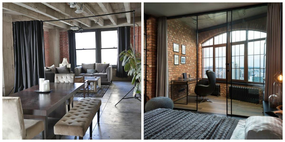 Cortinas para loft- como elegir una cortina adecuada para tu casa