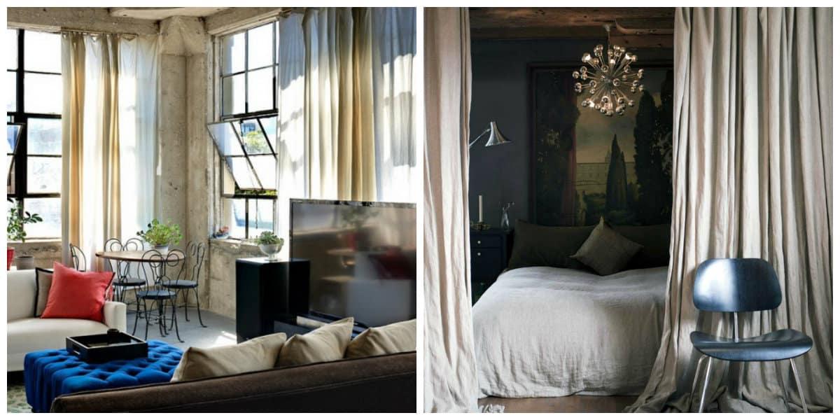 Cortinas para loft- la decoracion de tu casa en estilo loft