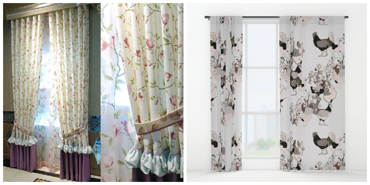 Cortinas rusticas- las cortinas de la cocina tienen una longitud corta