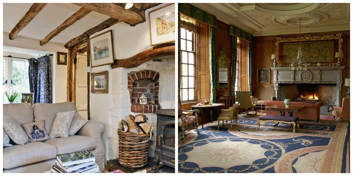 Decoracion casas de campo- abundancia de muchos muebles antiguos