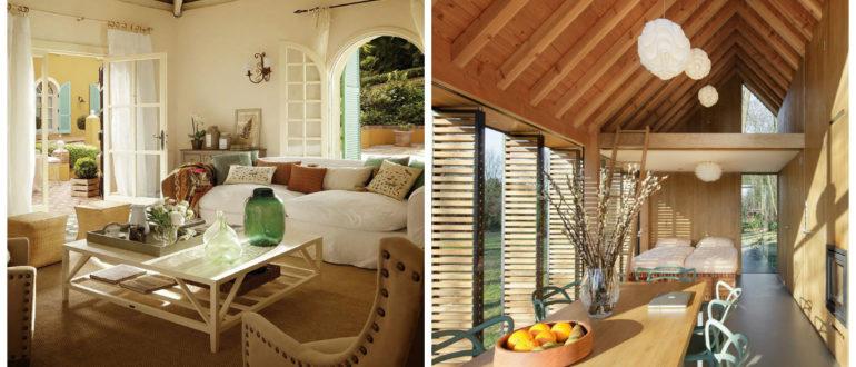 Decoracion casas de campo- uso de muebles adecuados