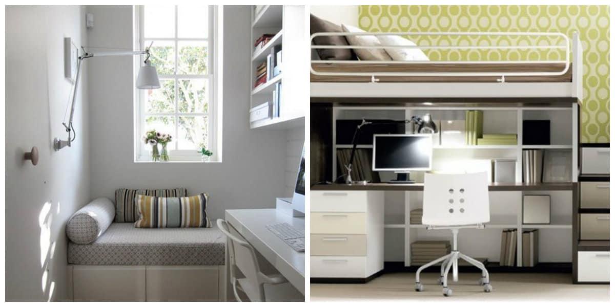 Decoracion de habitaciones pequeñas- uso de escritores para estudiantes
