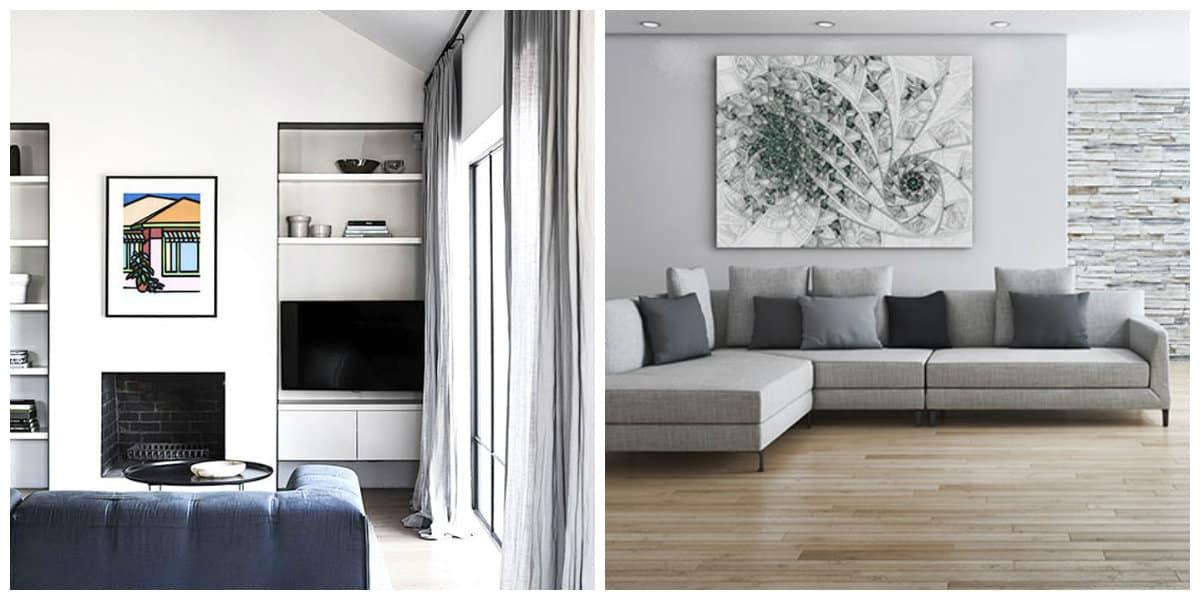 Decoracion de interiores minimalista- color gris se ve muy rico
