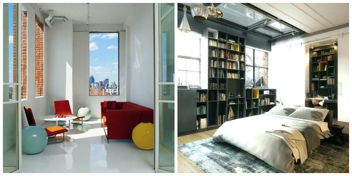 Decoracion de loft- estilo industrial que combina practicidad y eficacia