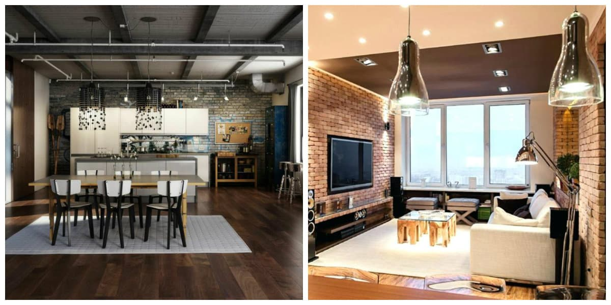 Decoracion de loft- uso de lampara asi comoo luz natural