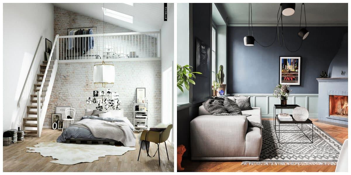 Decoracion escandinava- prevalecen las tonalidades del color gris