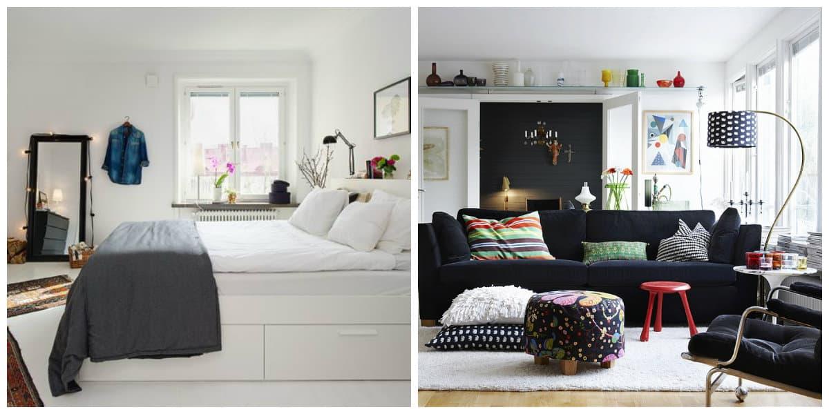 Decoracion escandinava- blanco y negro pueden ir combinados en una habitacion