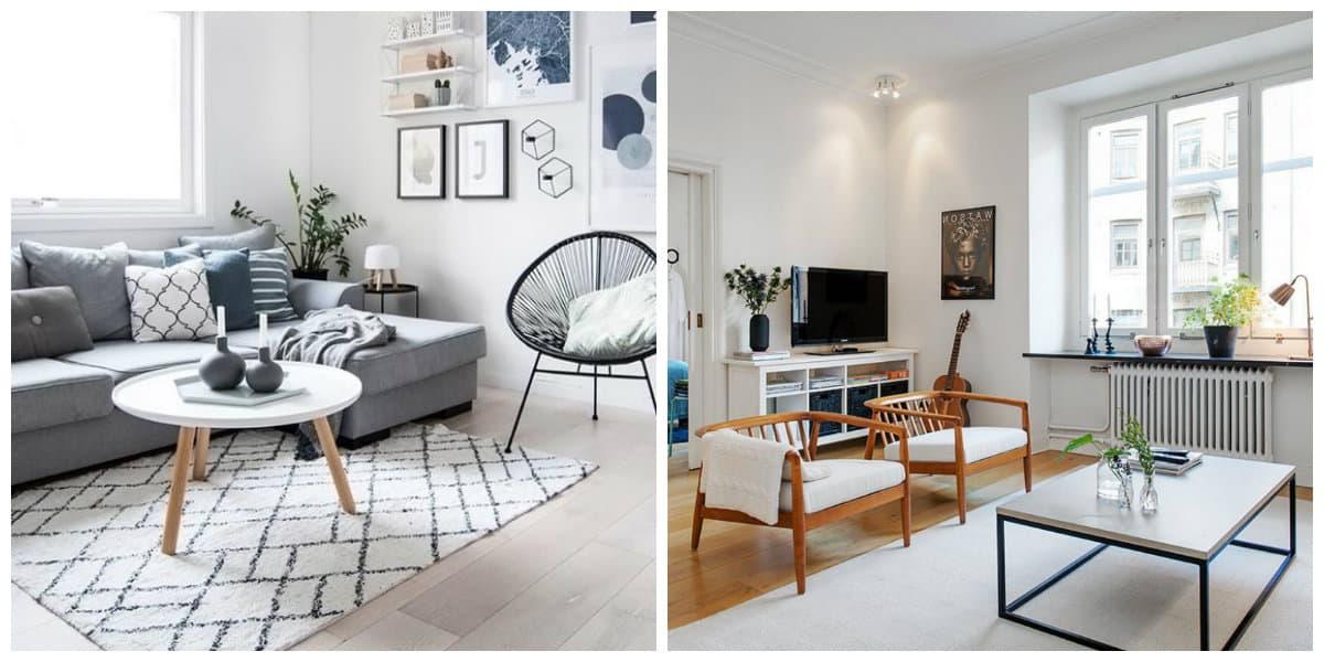 Decoracion estilo nordico- el comedor y el salon son casi la misma cosa aqui