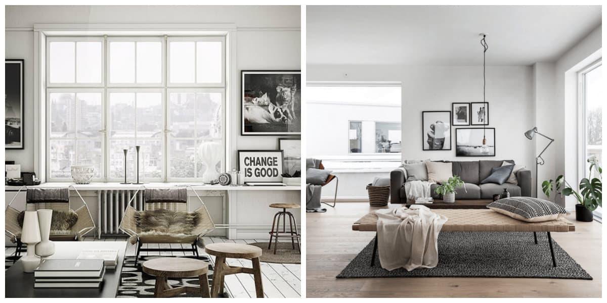 Decoracion estilo nordico- hay que usar muebles de colores claros y oscuros