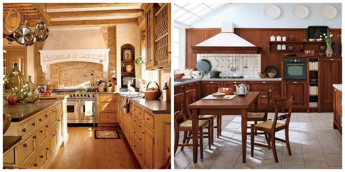 Decoracion italiana- la madera esta presente en las cocinas y comedores