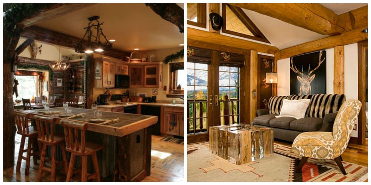 Decoracion rustica- la madera es un material y acabado principal en este estilo