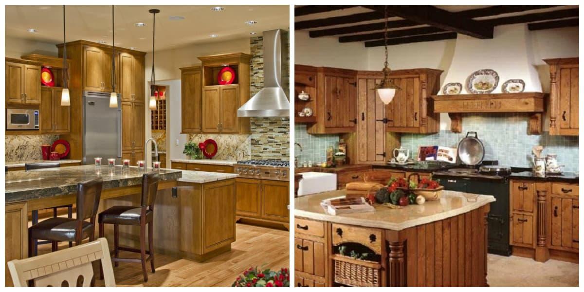 Decoracion rustica- la cocina sirve de comedor para toda la familia