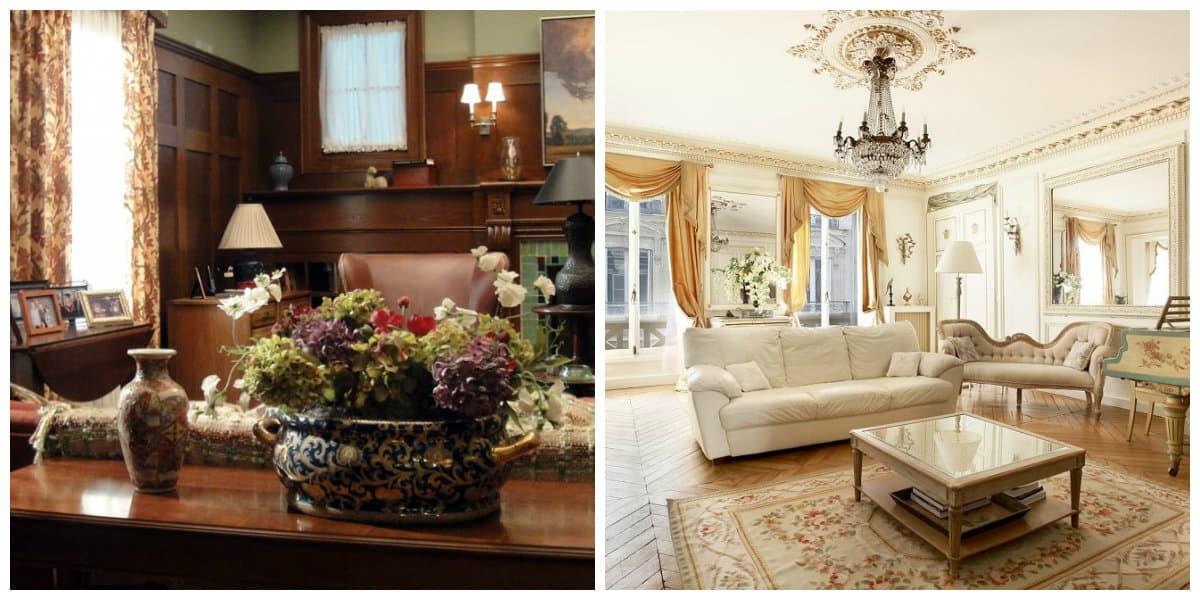 Decoracion rustica de interiores- las flores son una parte indispensable