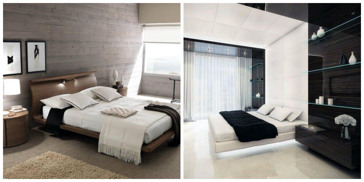 Diseño de dormitorios modernos- suele prevalecer el color blanco combinado con el negro