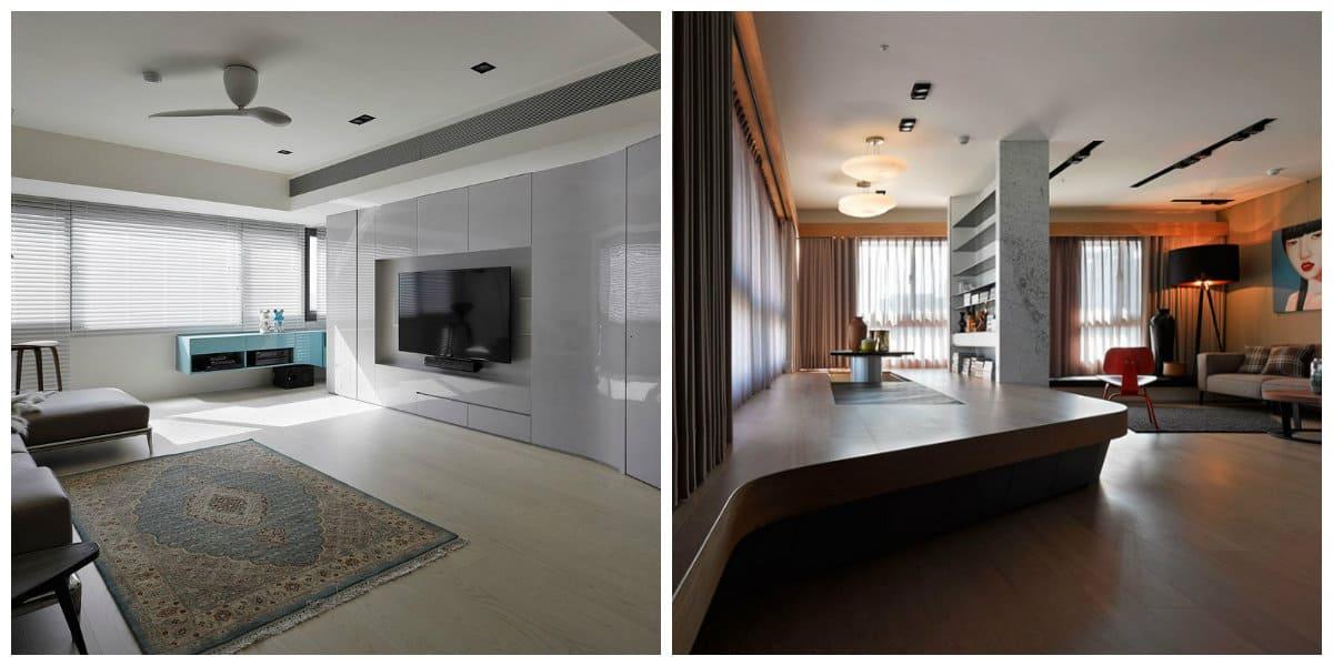Diseños de casas modernas- mucho espacio para muebles diferentes