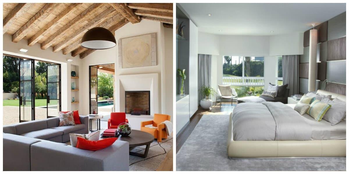 Diseños de casas modernas- uso de una paleta de colores diversos