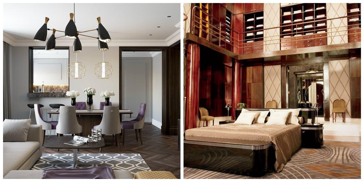 Estilo art deco- interiores modernos que se decoran en estilo art deco