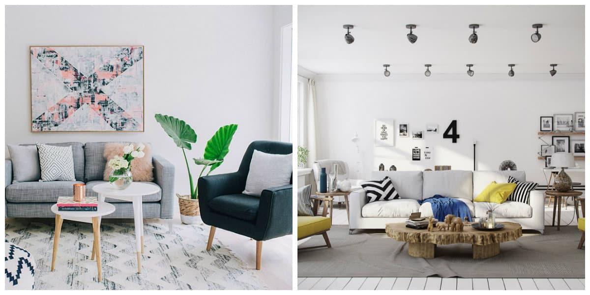 Estilo escandinavo- muebles en este estilo para las salas de estar