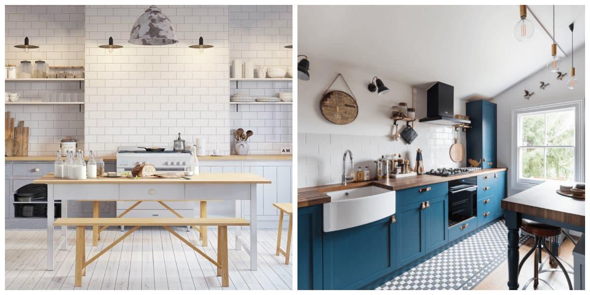 Estilo escandinavo- muebles de cocina muy modernas y preciosas
