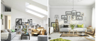 Estilo escandinavo- salas de estar que incluyen muchos elementos de moda