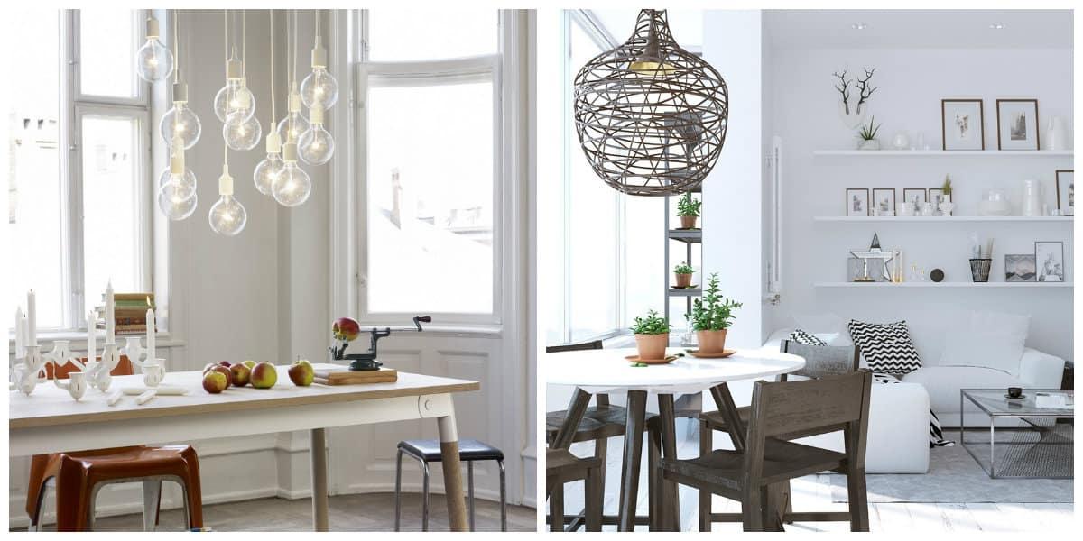 Lamparas estilo escandinavo-mejores imagenes para los faros de cocina