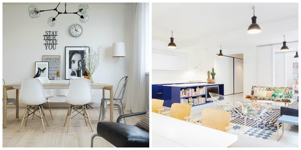 Lamparas estilo escandinavo- ideas elegantes para las lamparas de cocina y comedor