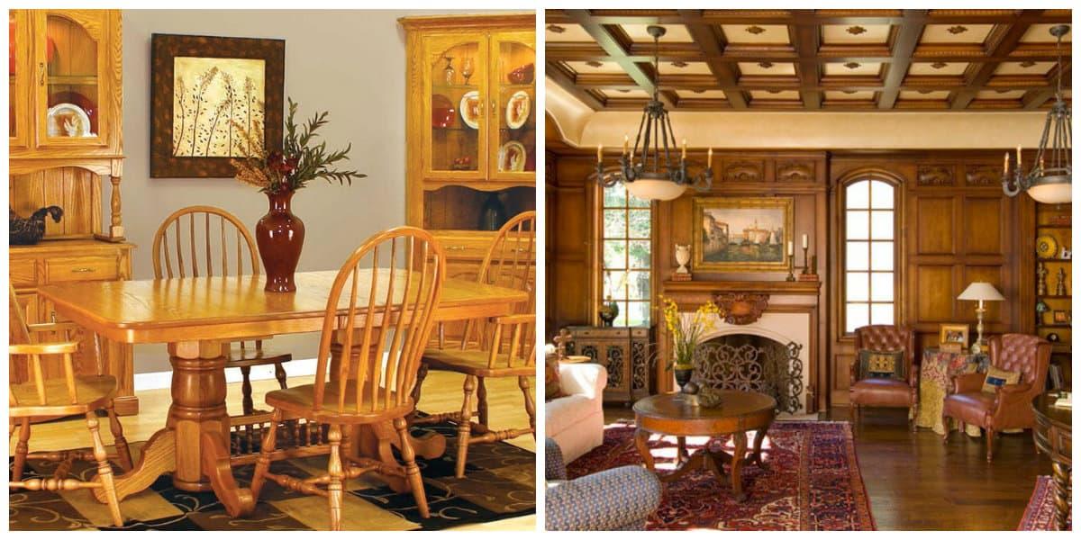 Muebles estilo campo- el color de madera natural es muy comun