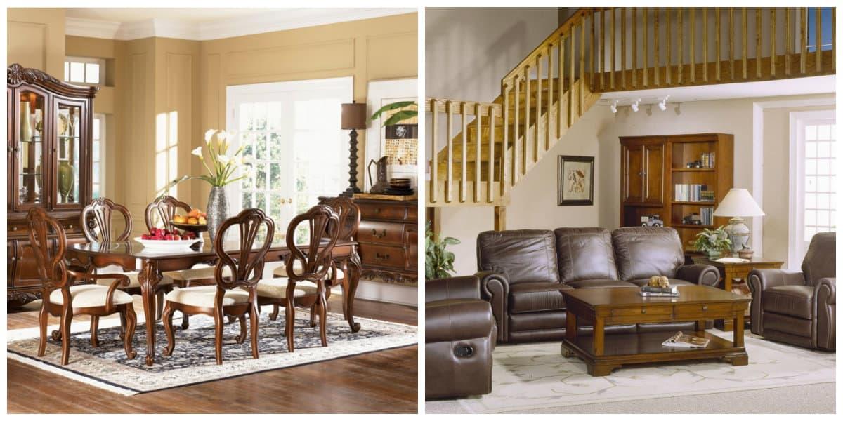 Muebles estilo campo- el uso de las escaleras es algo interesante