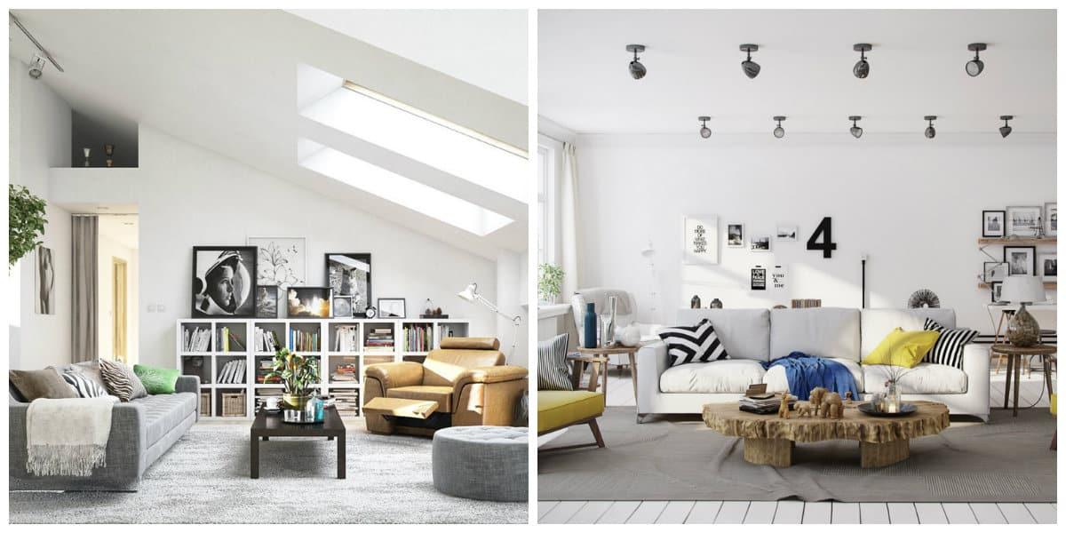Sala estilo escandinavo- todas las tendencias principales de moda