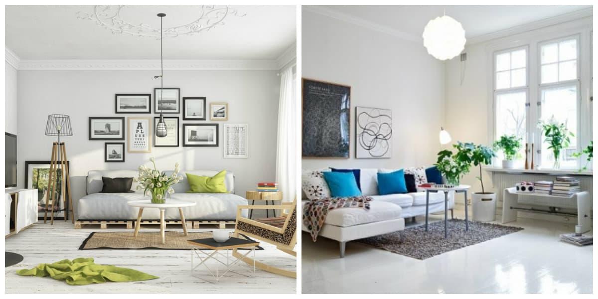 Sala estilo escandinavo- representamos algunas tendencias muy de moda