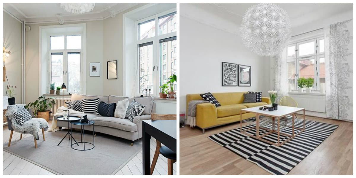 Sala estilo escandinavo- espacios no tan grandes que se amueblan de moda