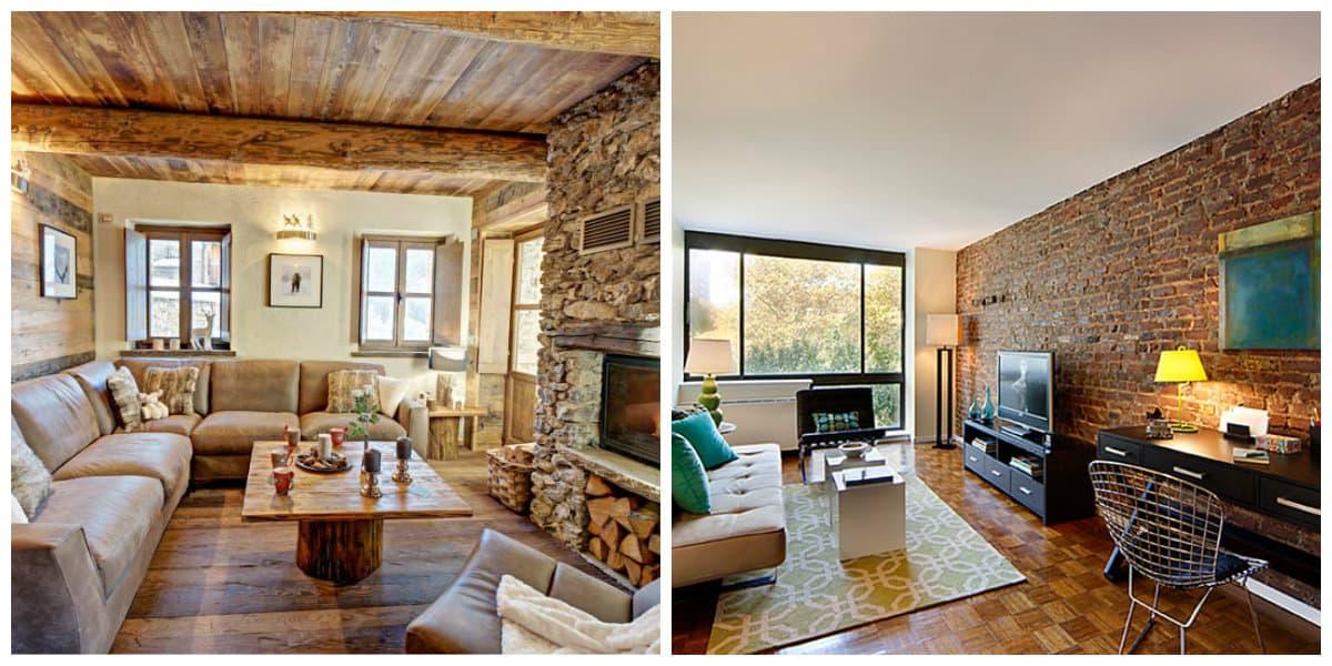 ideas cómodas de la sala de estar Salas De Estar Rusticas Ideas Del Interior Rstico Para Una