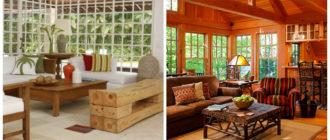 Salas de estar rusticas- atributos y textiles que se usan muy a menudo