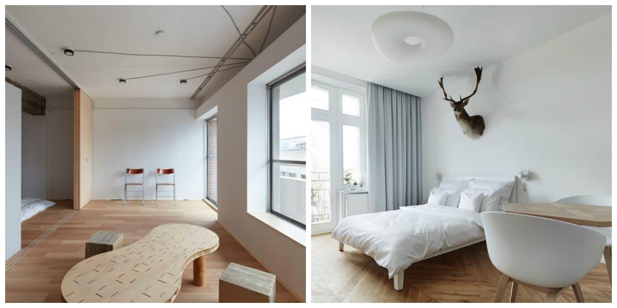 Apartamentos minimalistas- combinacion de habitaciones
