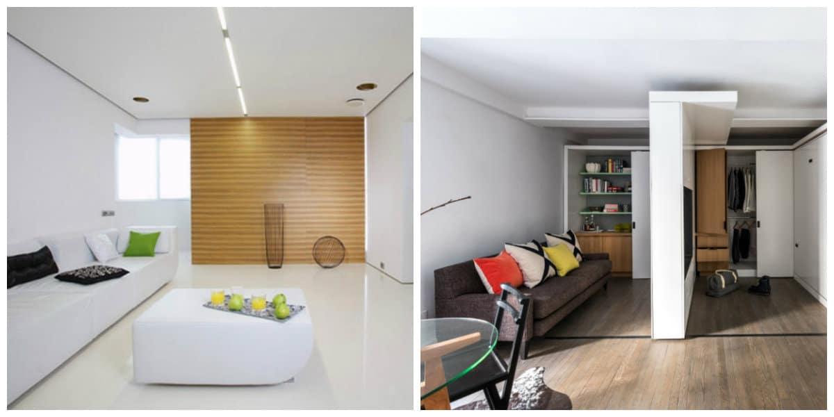 Apartamentos minimalistas- muebles de moda
