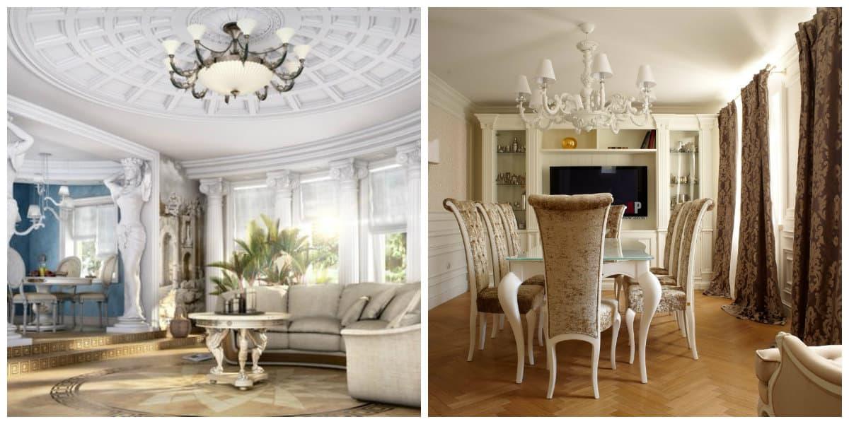 Casas neoclasicas- organizacion de muebles de moda