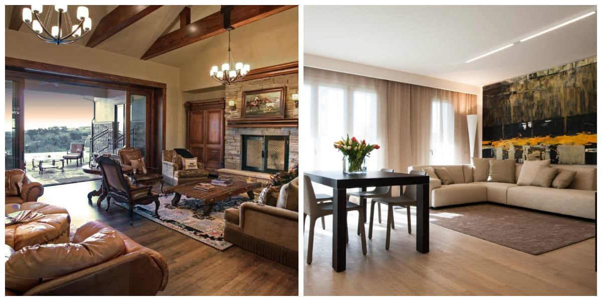 Decoracion estilo italiano- sala de estar moderna