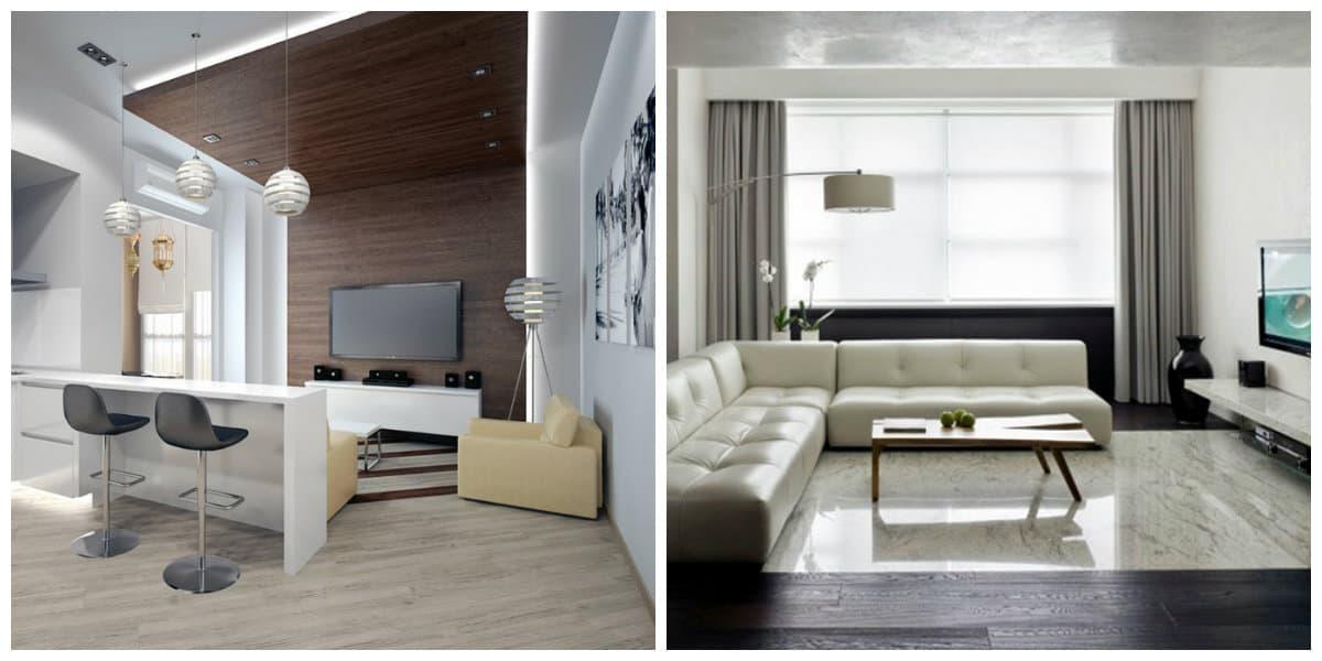Departamentos minimalistas- salas de estar de moda