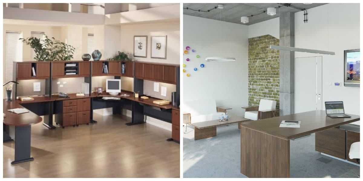 Diseño interior de oficinas- muebles adecuados de moda