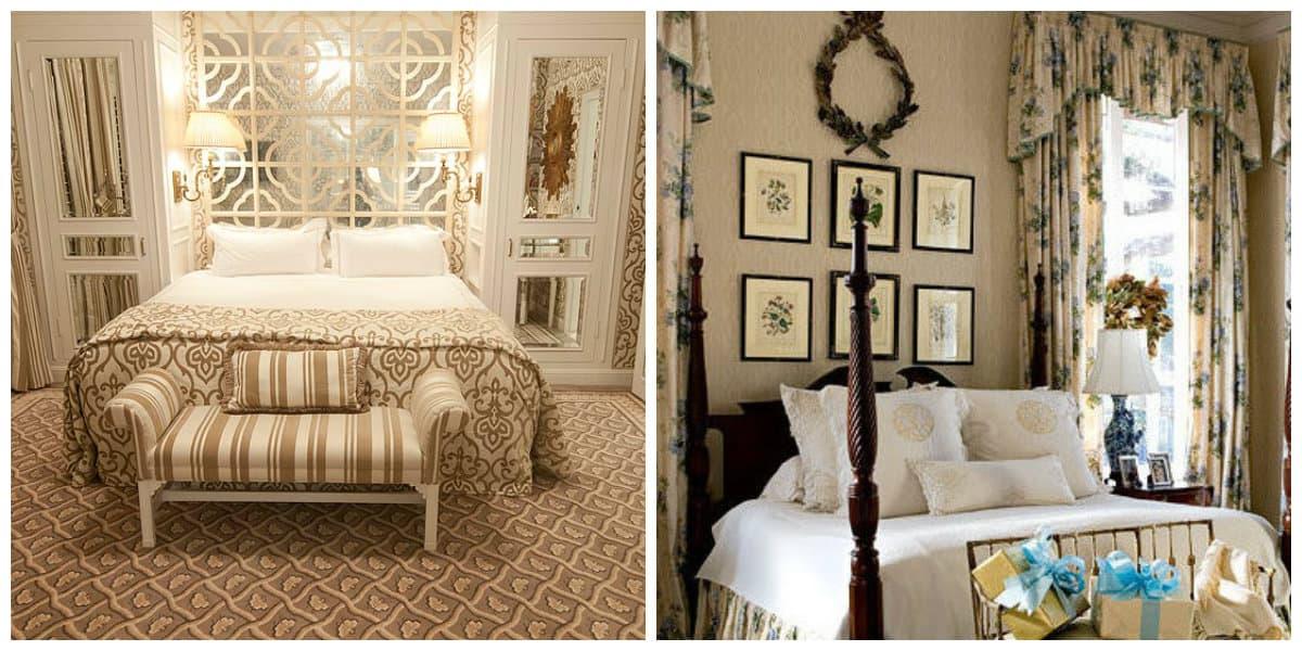Dormitorio estilo ingles- textiles muy usados
