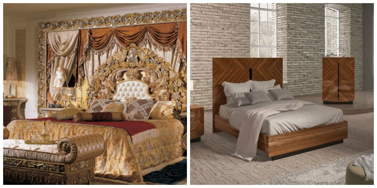Dormitorios estilo italiano- camas de lujo