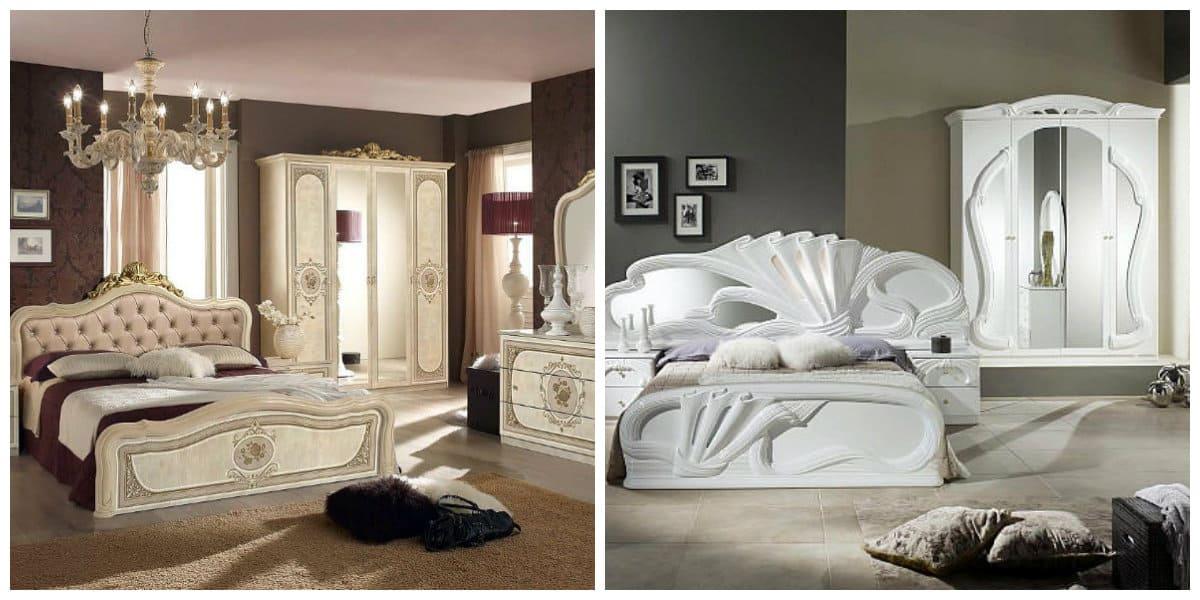 Dormitorios estilo italiano- colores de muebles de moda